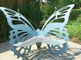 metal butterfly garden bench bench decoration