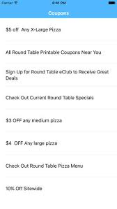round table pizza menu coupons coupons for round table pizza app on the app store