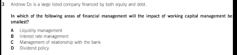 exam questions working capital management u003c the nature elements