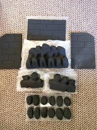 genuine valor gas fire coal u0026 walls set pack part number 5121805