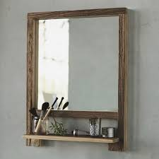 Wooden Bathroom Mirror Furniture For Bathroom Design And Decoration Using Rectangular