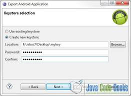 create apk build android application package file apk using eclipse ide