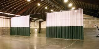 walk draw gym divider curtain
