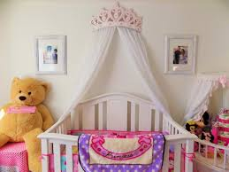 princess canopy beds for girls crib canopy bed crown pink princess wall decor