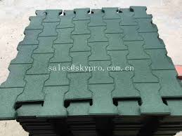 rubber patio pavers anti slip recycled rubber flooring