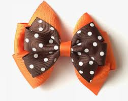 thanksgiving hairbow clip thanksgiving bow turkey