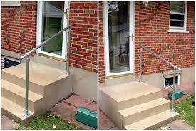 easy to install outdoor stair railing simplified building