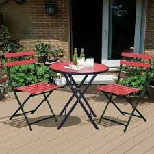 Patio Folding Chair Equipment Outside Bistro Patio Table Chair Set Folding