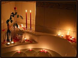 Valentine S Day Bed Decoration by Romantic Bedroom Roses And Romantic Candles In Bedroom Nice