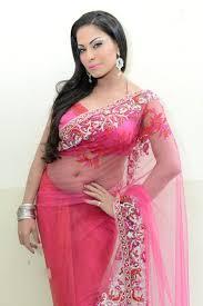 veena malik photos in transparent saree
