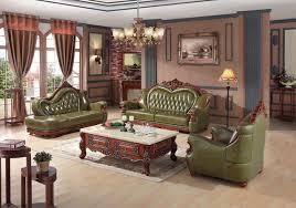 canapé vert de luxe européenne canapé en cuir ensemble salon canapé chine cadre