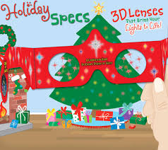 christmas star 3d glasses holiday specs classic red