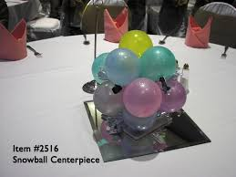 balloon centerpiece balloon centerpieces 2516 snowball balloon centerpiece up with