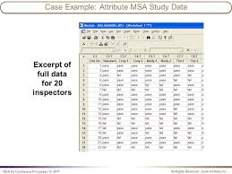msa example attribute or categorical data ppt video online download