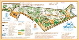 Maps Washington State by Fort Washington State Park May 31st 2009 Orienteering Map From