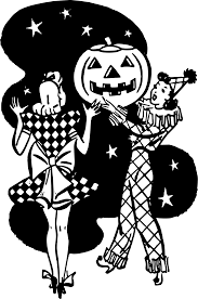 clipart halloween ladies