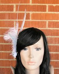 feather hair feather hair clip feather headpiece feather fascinator wedding