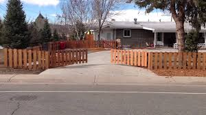 Home Decor Stores Denver Denver Automatic Driveway Gate System Picket Fence Style Youtube