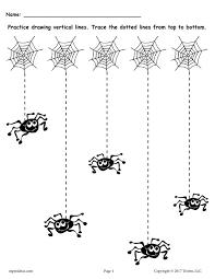 free printable halloween line tracing worksheets