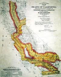 State Map Of California by Transcontinental Railroad Maps