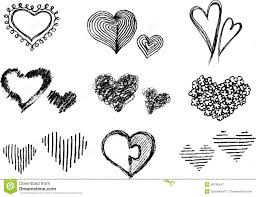 heart sketches stock photo image 8070230