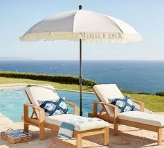 ivory and navy geometric edge market umbrella