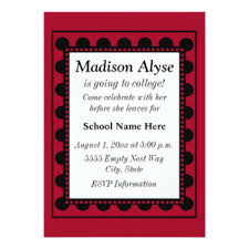 going away to college invitations announcements zazzle co uk