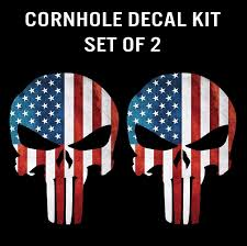 Free American Flag Stickers Punisher Skull American Flag Decal Sticker Graphic Set