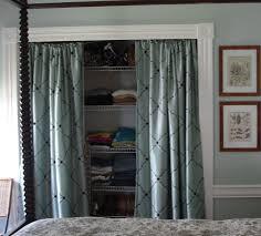 Closet Doors Diy Marvelous Diy Door Curtain Closet Curtains6 Alternative To Sliding