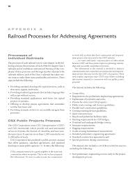 appendix a railroad processes for addressing agreements
