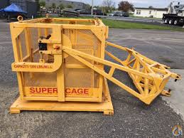2010 super cage dfa 110 man baskets crane part for sale in