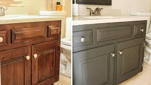 Repaint Bathroom Vanity by Bathroom Painted Cabinets Before And After Ideas