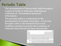 Who Is Credited With Arranging The Periodic Table Modified From Larry Scheffler Lincoln High Ib Chemistry
