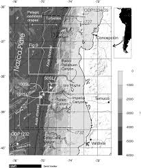 bathymetry of the continental margin the peru u2013chile trench and