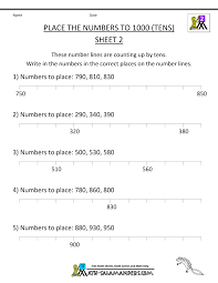 printable numbers lines free number line worksheets counting by tens