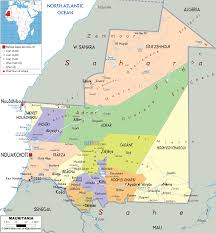 Political Map Africa by Map Of Mauritania Mauritania Pinterest Africa