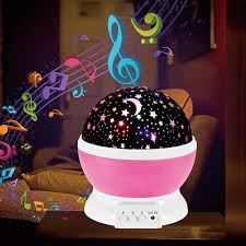 baby night light projector with music dream rotating night light spin flashing starry sky star projector