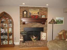 awesome brown brick fireplace home decoration ideas designing