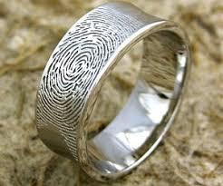 fingerprint wedding band fingerprint wedding band