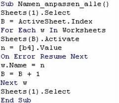 Excel Vba On Error Resume Next Tabellenblätter Nach Zellinhalt Benennen Pctipp Ch