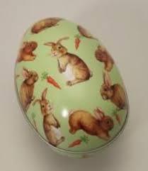 Gisela Graham Easter Decorations 2016 by Gisela Graham Easter Bunny Easter Egg Metal Tin Rabbit Gift Box