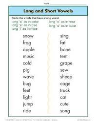 long vowel worksheets first grade free worksheets library