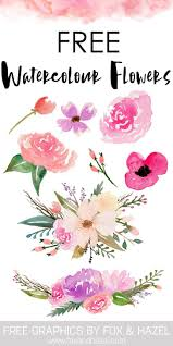 free flowers free watercolor flower graphics from graphics foxes and watercolor
