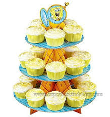 spongebob cupcake stand for kids u0027 party cardboard cupcake stand