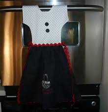 kitchen towel craft ideas oven door dress made from decorative t towel with applique of an