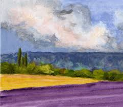 french countryside lavender fields original painting french countryside cypresses