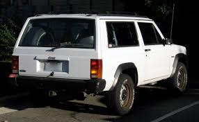 jeep cherokee white file jeep cherokee base 2 door white 5 speed xj r jpg wikimedia