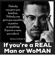 Malcolm X Memes - nobody can give you freedom nobody carn give you equality or justice