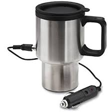 brand new electric heated stainless steel travel car coffee mug w