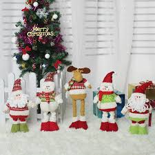 1pc retractable santa claus snowman elk dolls standing
